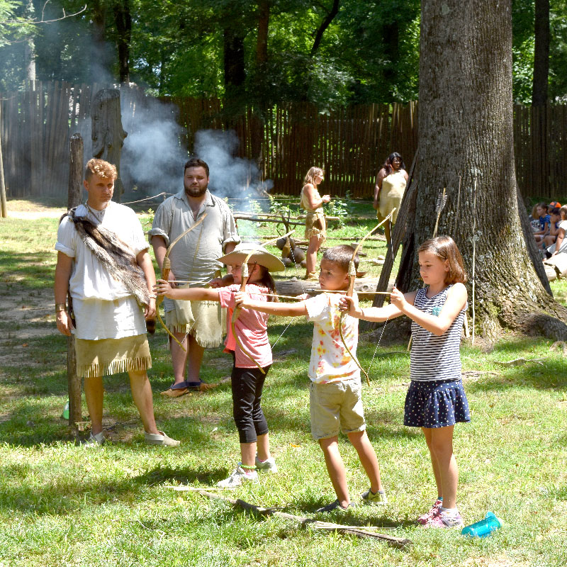 Camp Pocahontas Kids with Bows