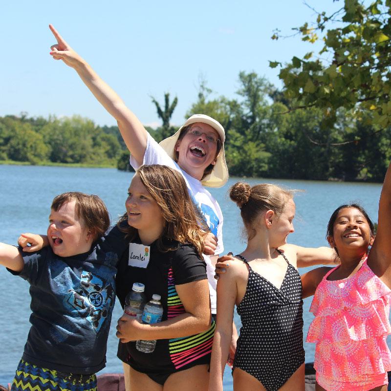 James River Camp Kids on Dock