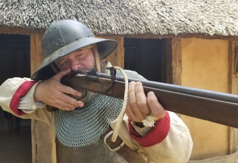 Man Pointing Musket