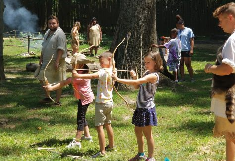 Kids Doing Archery in Powhatan Village
