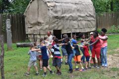 Camp Pocahontas Kids Indian Dancing