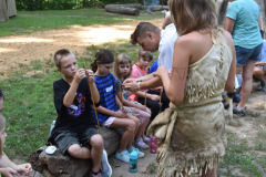 Camp Pocahontas Kids Making Arrows