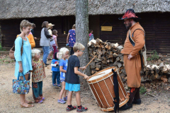 Rocke Hall Boy Playing Drums with Family